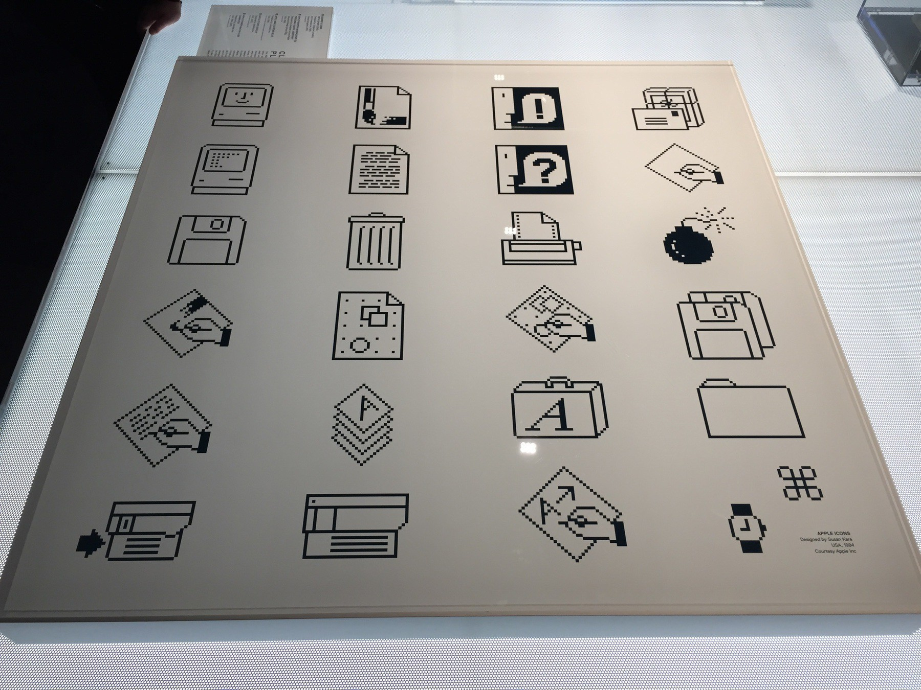 Susan Kare's icon set from Classic Mac OS in the 1980s